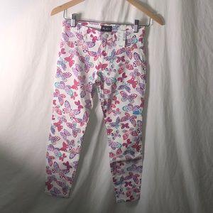Children's Place Girls Pants Sz 10 w/butterflies